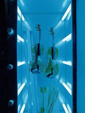 Geigen im Sonnenstudio