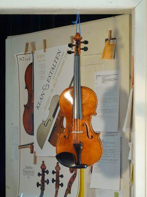 Die fertige Geige